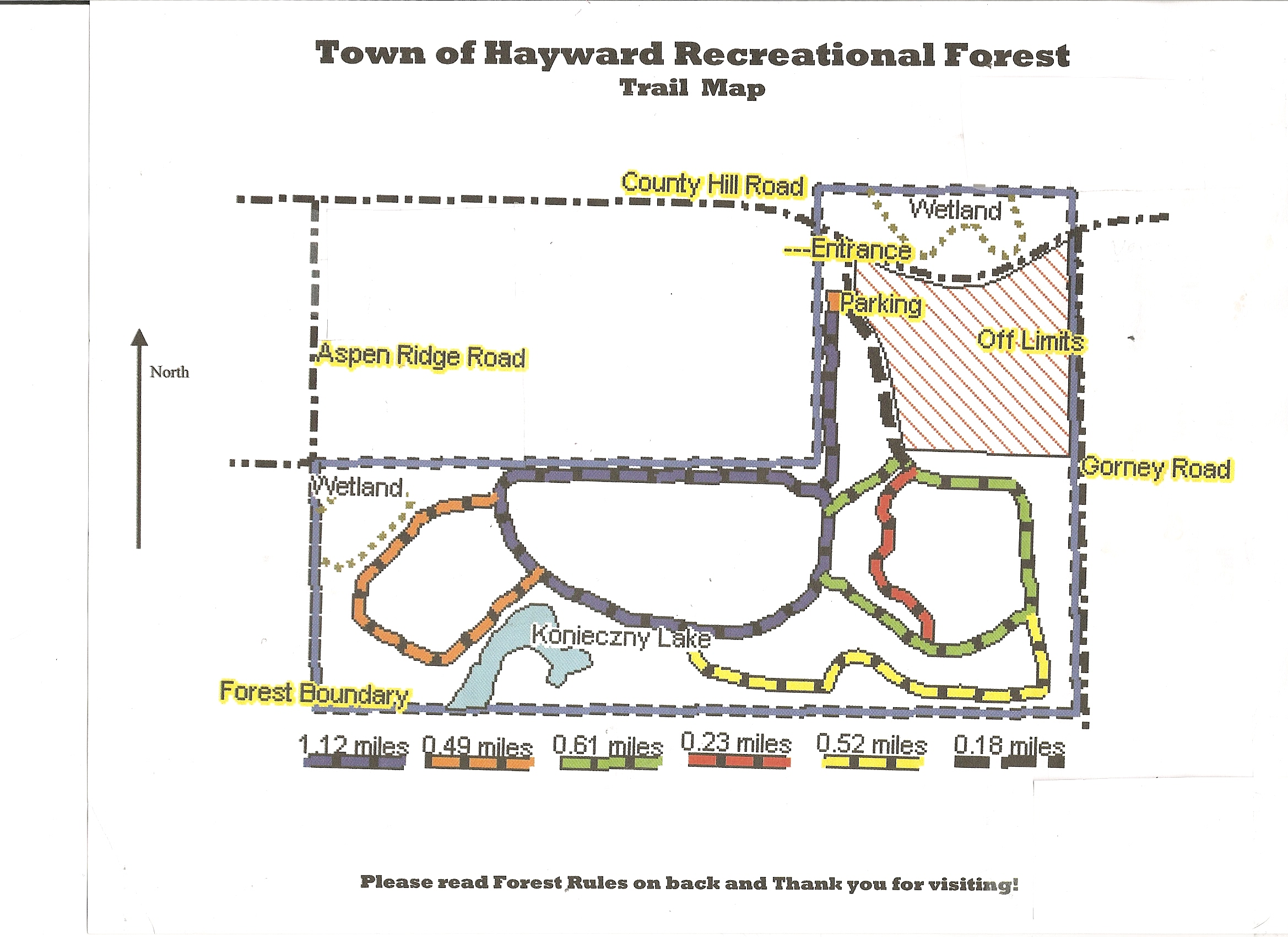 Recreational Forest Plan Town Of Hayward Sawyer County Wisconsin